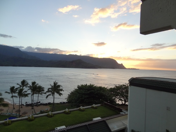 Sunset at Hanalei Bay
