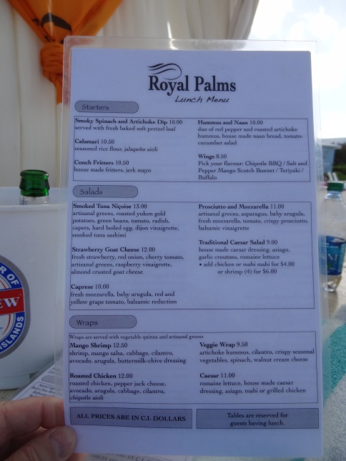 Royal Palms Lunch Menu