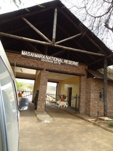 Entrance to Masai Mara National Reserve